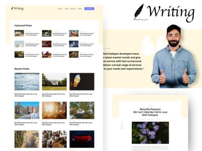 Blog Listing - Writing hubspot events recent articles listings popular logo testimonias cards patterns multicolumn listing