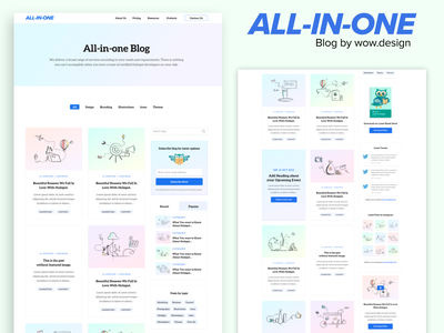 Blog All-In-One - Listing landing website popular hubspot listings posts categories offers events topics twitter subscribe featured related video instagram blog listing