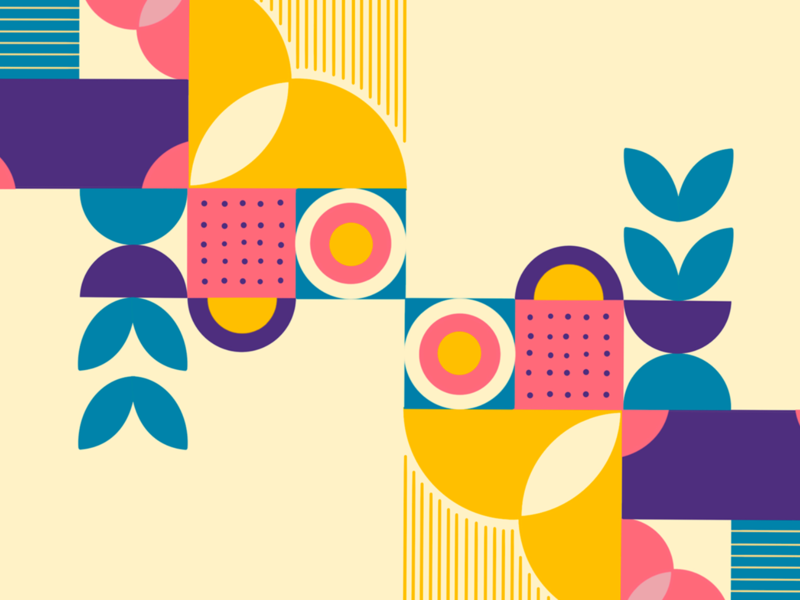 colors and shapes adobe illustrator illustraion pattern art patterns flowers shapes colors