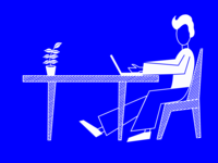 Man working illustration
