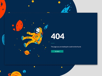 008 Daily Ui - 404 Page space web design uiux 404 page 404 error dailyui