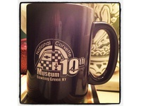 National Corvette Museum 10th Anniversary Logo On Mug Copy