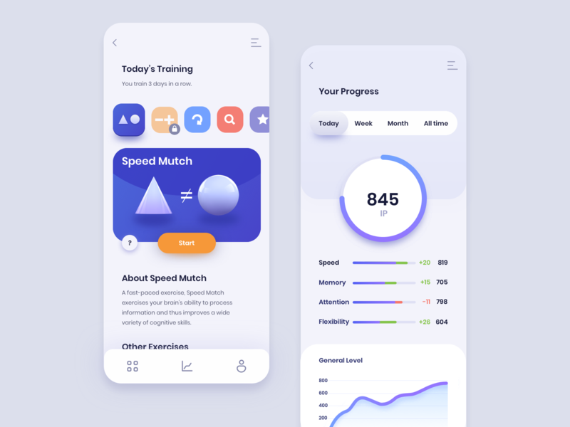 Brain Training app concept user experience userinterface web design app concept fireart studio fireart ui design ux uxui app design app application design application ui ui design