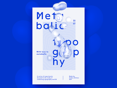 Metabalic typo poster graphic experiments typography typo 3d graphic design poster