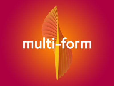 Multi-form graphic concept shape art abstract graphics technologies concept 3d logo sign