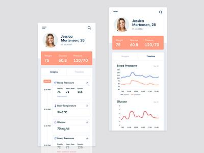 Healthcare mobile app physician doctor app healthcare app data health ux design user experience ui ux product informal mobi interace medical app medical analytics app concept app web