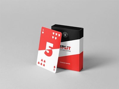 Split Playing Cards- Standard Edition custome faces designer cards custom cards poker poker cards kickstarter indiegogo package print cards playing cards