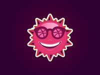Dribbble Sunshine Sticker
