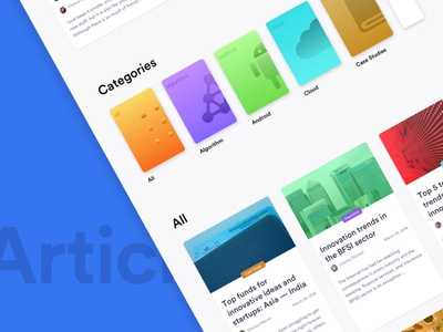 Article Page trending popular design gradient ux ui blog article