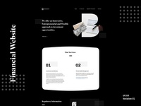 Financial Website Concept