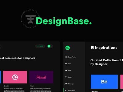 W.I.P - DesignBase collection resources side project ux ui designbase design