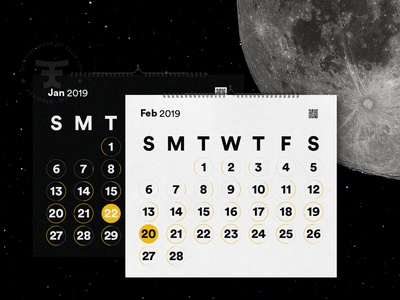 Lunar Theory - Coming Soon launch 2019 calendar 2019 calendar ux ui web side project space theory lunar