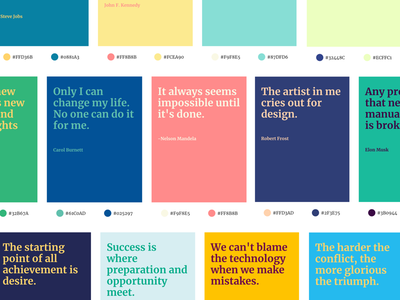 ColorQuote - Launched producthunt design tools ux ui sideproject design quotes color