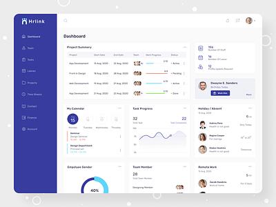 Hrlink HR Management Software saas design dashboard design dashboard human resource userinterface webapplication