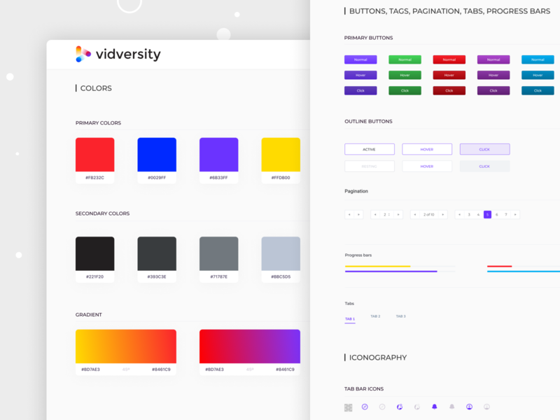 Ui Style Guide color ui elements style guide color palette
