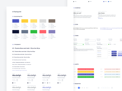 Ui Style Guide for Antler Payroll SaaS Application web application design payroll software payroll application interface design interaction design dahsboard human resources ui style guide
