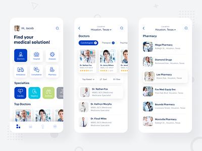Medicare Medical Apps pharmacy app pharmacy doctor apps doctor booking apps hospital apps hospital iphone minimal ios mobile apps medical app