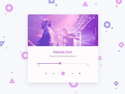 Day 10 Design Music Player dribbblebestshot music player 90daysui freeuikit freepsd