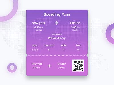 Day 12 - Boarding Pass dribbblebestshot boarding pass 90daysui freeuikit freepsd