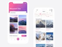 Travel App Screen Exploration