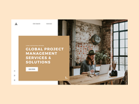 Website Header for Project Management company