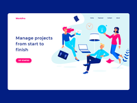WorkPro Landing page Design