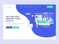 Landing page design for Hospital