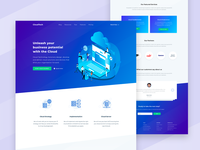 Landing page design for CloudTech