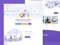 Landing page  for Airline Company