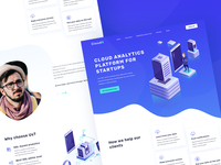 Landing page design for CloudX