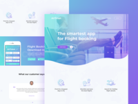 AirTicket Landing page design