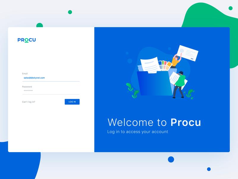 Procu Welcome minimal clean apps mobile website interface illustration uidesign application procurment dashboard webapps