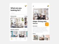 E-commerce App Interface for Furniture