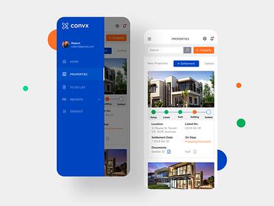 Convex Properties Responsive webapp properties mobile app dashboard