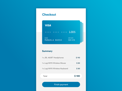 Credit card Checkout /// Daily UI 002 dailyui payment checkout credit card