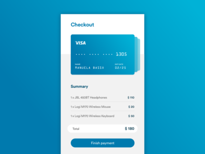 Credit card Checkout /// Daily UI 002