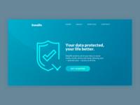 DailyUI #003 /// Landing Page