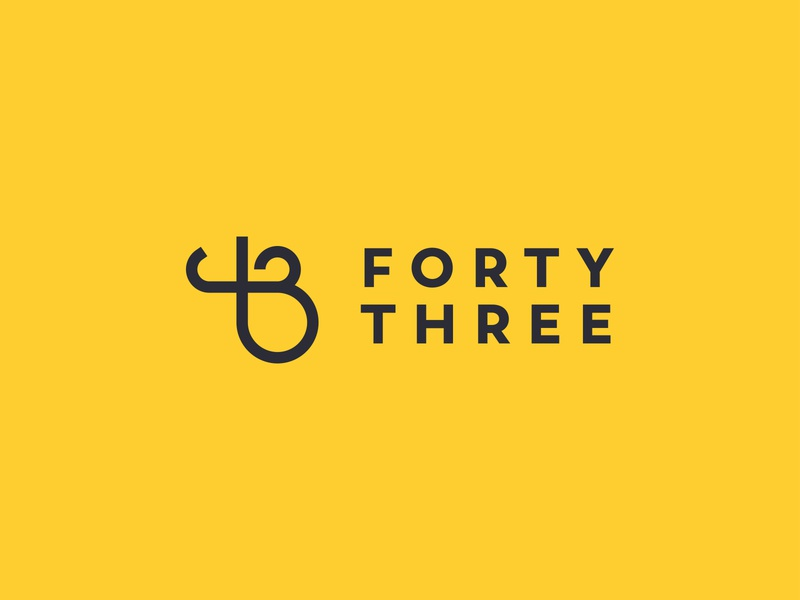 Forty Three illustration minimalist vector mark logolearn logoinspiration logofavs logodesign logo identity icon martin james three forty design creative branding brand