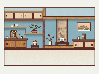 Traditional Japanese Furniture japanese roomguilherme reis - dribbble