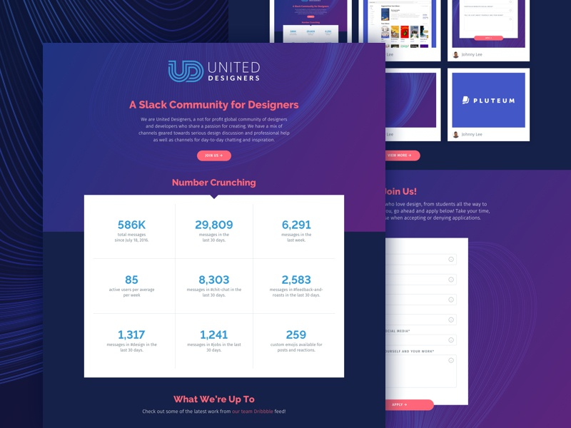 United Designers Landing Page