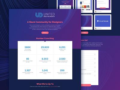 United Designers Landing Page form gradient gradients pills homepage landing page ui web website clean united designers