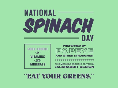 National Spinach Day Typography