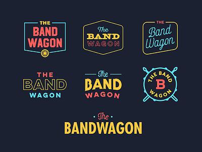 The Band Wagon Logo music vintage bandwagon wagon band badge type typography identity logo branding