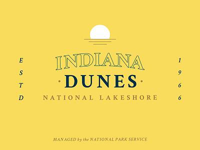 Indiana Dunes National Lakeshore vintage lakeshore national park hoosier blue gold yellow dunes indiana thunderdome bsds