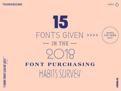 MyFonts 2018 Font Purchasing Habits Survey Typography