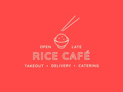 Rice Café Lockup typography bsds thunderdome indiana red off white rice cafe