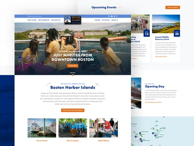 Boston Harbor Islands Website Re-Design