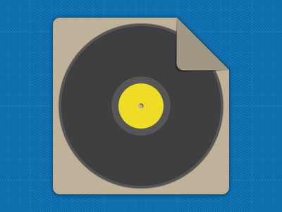 Record Sleeve flat icon record sleeve draft