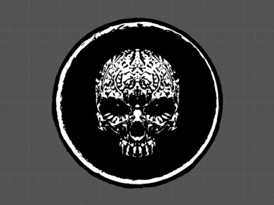 Skulley v01 rough logo illustration skull