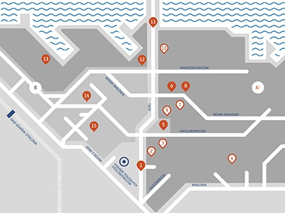 Map for an Audio Guide icon vector bullet clean grey information design map plan simple water